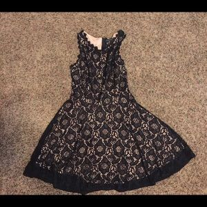 Dresses & Skirts - Black and Nude Lace Dress